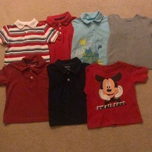 Boys toddlers size 2t Polo shirts and tee